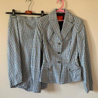 ヴィヴィアンウエストウッド(Vivienne Westwood)のヴィヴィアン ウエストウッド スーツ チェック 水色(スーツ)