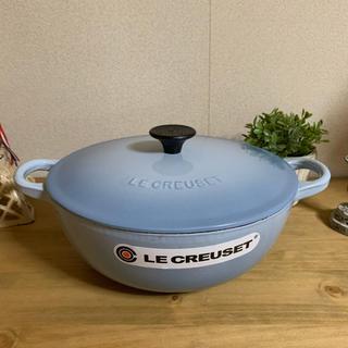 ルクルーゼ(LE CREUSET)のル・クルーゼ コースタルブルー マルミット 22cm(鍋/フライパン)