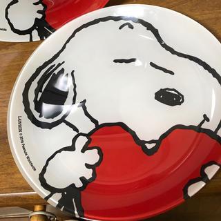 SNOOPY - ☆スヌーピー ガラス お皿 丸皿 非売品 ローソン ☆