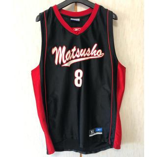 リーボック(Reebok)の松商学園高校 男子バスケ部 公式ユニフォーム XL リーボック製 選手実使用品(バスケットボール)