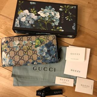 グッチ(Gucci)のGUCCI  グッチ ラウンドジップ長財布 GG柄 総ロゴ 花柄 ウォレット(長財布)