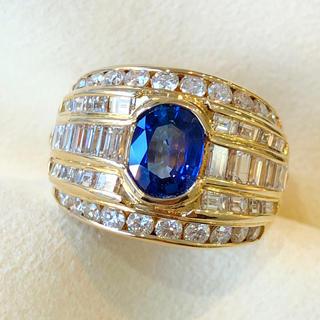 ✨ブルーサファイア✨上質❣️サファイア ダイヤ K18 18金 リング 指輪(リング(指輪))