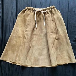 ドゥロワー(Drawer)のドゥロワー  ラムレザースカート(ひざ丈スカート)