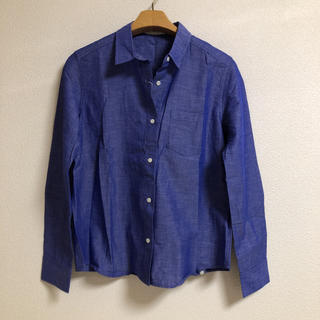 新品☆エクリュフィル 麻混じり長袖シャツ