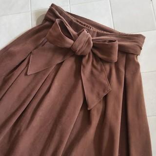 ロペピクニック(Rope' Picnic)のロペピクニック フレア スカート♡サイズ36♡ウエストリボン(ひざ丈スカート)