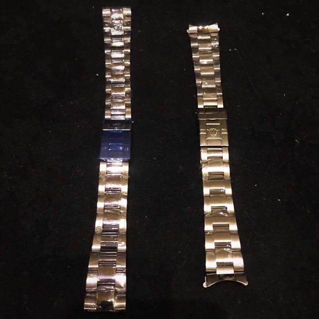 時計ベルト 2本セット ステンレスシルバーの通販