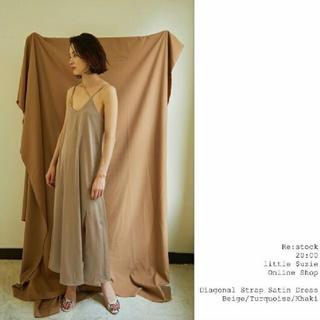 イセタン(伊勢丹)のlittle suzie Diagonal Strap Slip Dress(ロングワンピース/マキシワンピース)