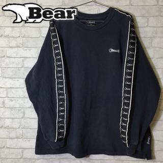 ベアー(Bear USA)のBear USA ベアー クルースウェット ロゴライン トレーナー/Lサイズ(スウェット)