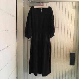 クロエ(Chloe)のvintage Chloé black silk one-piece.(ひざ丈ワンピース)