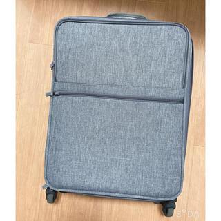 ムジルシリョウヒン(MUJI (無印良品))の【づを様専用】半分の厚さで収納できるソフトキャリーケース(S) グレー(スーツケース/キャリーバッグ)