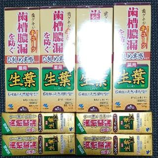 コバヤシセイヤク(小林製薬)の小林製薬 生葉 ひきしめ実感タイプ 4本セット おまけ付き(歯磨き粉)