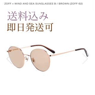 ゾフ(Zoff)のzoff × WIND AND SEA サングラス ブラウン(サングラス/メガネ)