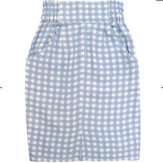 アナップ(ANAP)の★新品★ ANAP ギンガムチェックハイウエストスカート(ひざ丈スカート)
