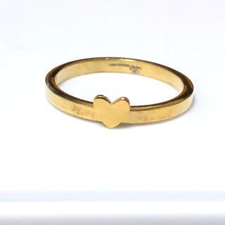 ステンレス指輪プチハート ゴールド(リング(指輪))