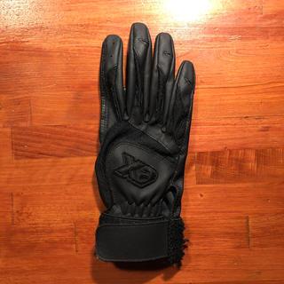 ザナックス(Xanax)の野球バッティング手袋 黒(グローブ)