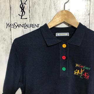 イヴォン(YVON)のイブサンローラン ポロシャツ ロゴ(ポロシャツ)