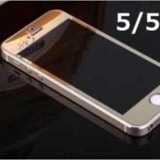 激安iphone5/5s/5c//se専用保護鏡面強化ガラス  (スマートフォン本体)
