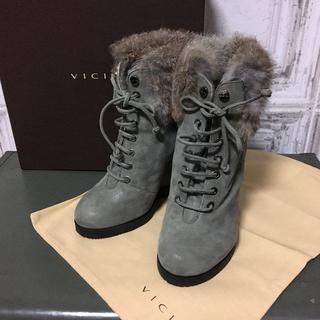 ドゥーズィエムクラス(DEUXIEME CLASSE)のイタリア製 VICINI ヴィッチーニ ブーツ USED(ブーツ)