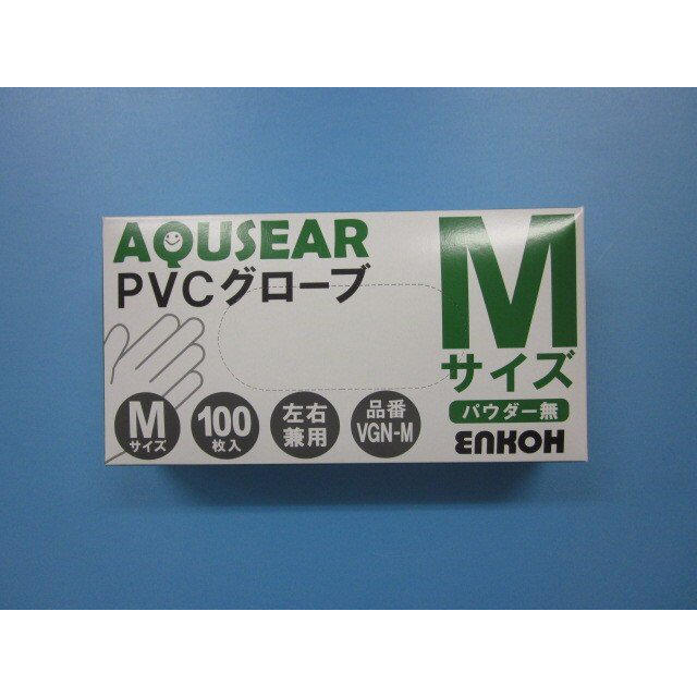マスク るるるん 、 PVCグローブ Mサイズ 100枚入り 使い捨て 手袋 感染予防 左右兼用の通販