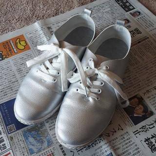 シルバーグレー レースアップシューズ Lサイズ  (ローファー/革靴)