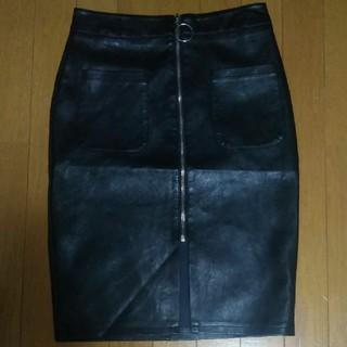 アナップ(ANAP)のANAP レザースカート(ひざ丈スカート)