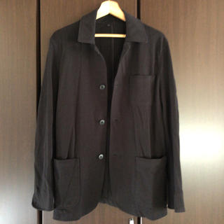 ムジルシリョウヒン(MUJI (無印良品))の無印良品 MUJi シャツジャケット ブラック メンズL(ピーコート)