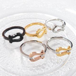 ステンレス製選べる5種類ホースシューリング(リング(指輪))