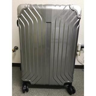 キャリーケースMサイズ 新品未使用 シルバー(旅行用品)