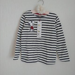 プティマイン(petit main)の新品プティマイン  ボーダーカットソー 120センチ(Tシャツ/カットソー)