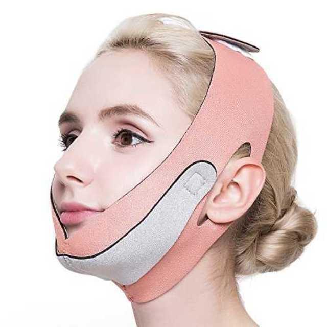 ピンクフリーサイズ(顔周り57~68cm)PLEASING SAN 小顔 矯正 の通販