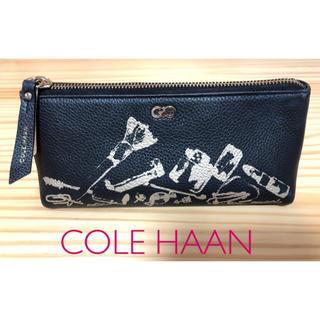 コールハーン(Cole Haan)のコールハーン メイクポーチ コスメ ケース 黒 ブラック COLE HAAN(ポーチ)