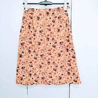 フェリシモ(FELISSIMO)の花柄✿ピンクベージュ 秋冬 ❀ひざ丈 スカート(ひざ丈スカート)