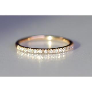K18 Star Jewelry スタージュエリー マイクロセッティング ハーフ(リング(指輪))