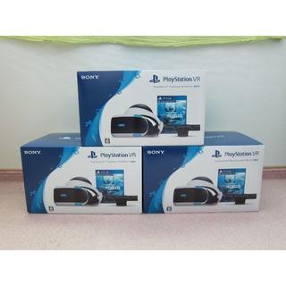 プレイステーションヴィーアール(PlayStation VR)の3台セット 新品 PS VR WORLDS同梱版 CUHJ-16006 送料無料(家庭用ゲーム機本体)