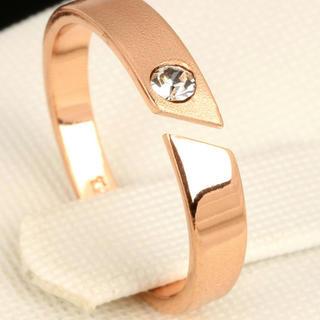 ピンクゴールド リング 指輪(リング(指輪))