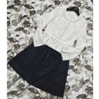 ナチュラルビューティー(NATURAL BEAUTY)の美品 NATURAL BEAUTY ノーカラージャケット/美品IENA スカート(スーツ)