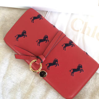 クロエ(Chloe)のChloe 長財布♡アルファベットシリーズ♡リトルホース刺繍(財布)