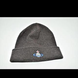 ヴィヴィアンウエストウッド(Vivienne Westwood)のニット帽 ヴィヴィアンウエストウッド  グレー(ニット帽/ビーニー)