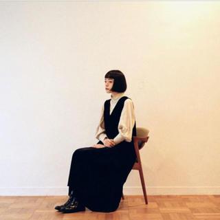 新品 foufou THE DRESS #16 ノースリーブベロアワンピース M(ロングワンピース/マキシワンピース)