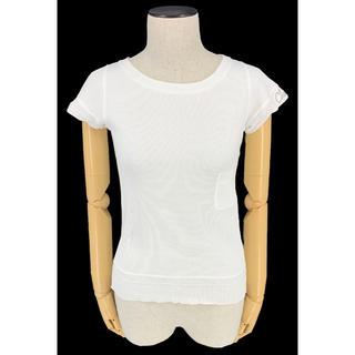 シャネル(CHANEL)のCHANEL☆08P Tシャツ ホワイト ロゴ リブ 半袖 ポケット(Tシャツ(半袖/袖なし))