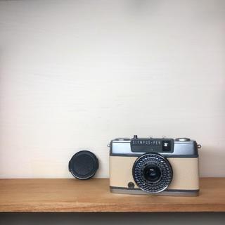 オリンパス(OLYMPUS)のOLYMPAS PEN EE-2【BEIGE】整備品、キャップ付(フィルムカメラ)