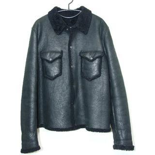 ヨウジヤマモト(Yohji Yamamoto)のYohjiYamamotoヨウジヤマモトシープ羊革レザームートンシャツジャケット(レザージャケット)