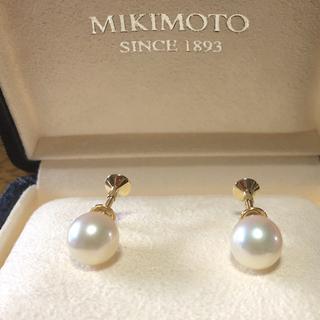 ミキモト(MIKIMOTO)の美品 ミキモト 大珠 K14パール イヤリング約8.3ミリあこや真珠(イヤリング)