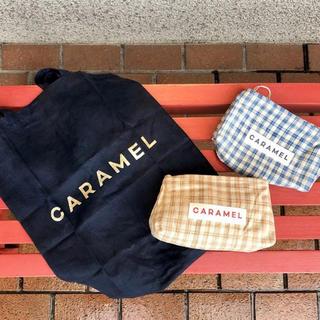 キャラメルベビー&チャイルド(Caramel baby&child )のCaramel 伊勢丹限定ポーチ ブルー(リュックサック)