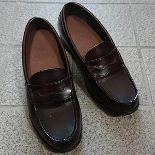 ローファー 24cm 焦げ茶(ローファー/革靴)