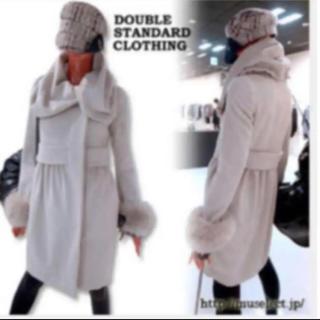 ダブルスタンダードクロージング(DOUBLE STANDARD CLOTHING)のダブルスタンダードクロージングsov フォックスファー付きアンゴラコート(毛皮/ファーコート)