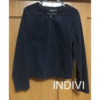 インディヴィ(INDIVI)のスウェードジャケット INDIVI(ノーカラージャケット)