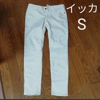 イッカ(ikka)の白パンツ イッカ 裏起毛あり S (カジュアルパンツ)