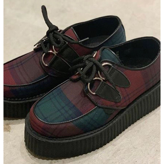 アンダーグラウンド(UNDERGROUND)の【新品】 UNDERGROUND 厚底 24㎝ タータンチェック(ローファー/革靴)