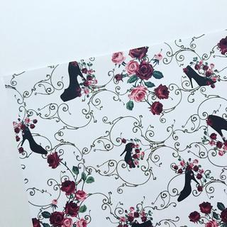 オリジナル デザインペーパー Rose&heal ホワイトブラック A4 10枚(カード/レター/ラッピング)